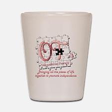 ot puzzle pink Shot Glass