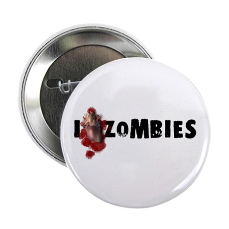 "I Love Zombies 2.25"" Button (100 pack)"
