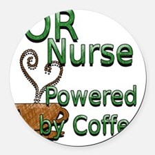 2-coffee or nurse Round Car Magnet