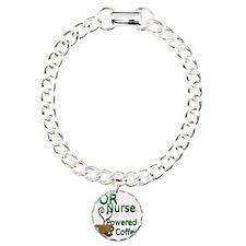 2-coffee or nurse Charm Bracelet, One Charm