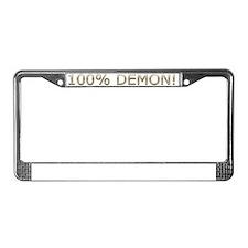 100% Demon!.gif License Plate Frame