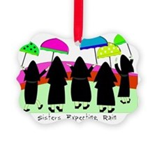 Sisters Expecting Rain II Framed Ornament