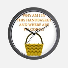 hellin a handbasket gifts pprel Wall Clock