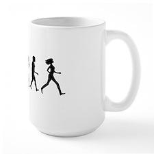 evolution woman-CP-white Mug
