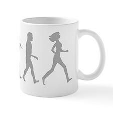 evolution woman-white Mug