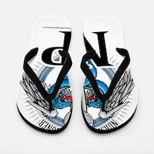 NP-Blue-Caduceus Flip Flops