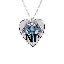 NP-Blue-Caduceus Necklace