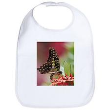 Butterfly On Flower Bib