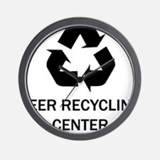M_beer recycling center Wall Clock