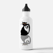 ReflectedBlackKittyTra Water Bottle