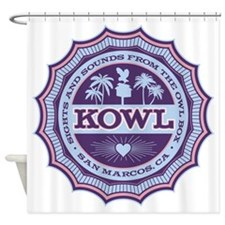 KOWL_2Purple Shower Curtain