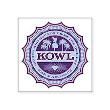 """KOWL_2Purple Square Sticker 3"""" x 3"""""""