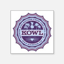 "KOWL_2Purple Square Sticker 3"" x 3"""