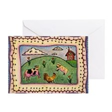 2-barnyard Greeting Card