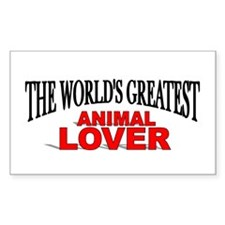 """""""The World's Greatest Animal Lover"""" Decal"""
