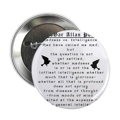 "Edgar Allan Poe Madness 2.25"" Button"