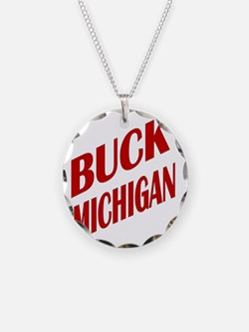 BuckMichiganRedSlant Necklace