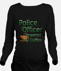 coffee police off Long Sleeve Maternity T-Shirt