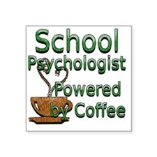 "coffee psychologist Square Sticker 3"" x 3"""