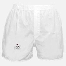 maddie pink bow Boxer Shorts