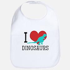 I Love Dinosaurs Bib