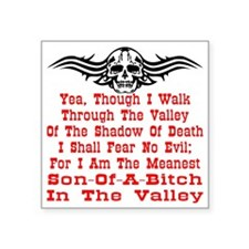 "wht_Meanest_SOB_Valley3 Square Sticker 3"" x 3"""