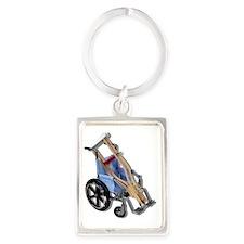 CrutchesWheelchair081210 Portrait Keychain