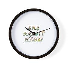 Rabbit Habit Wall Clock