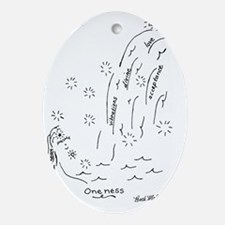 Oneness Oval Ornament