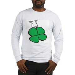 Irish Cow Shamrock Hiding Long Sleeve T-Shirt