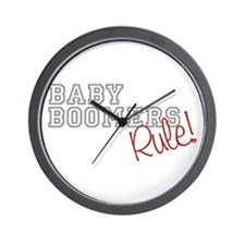 baby boomers rule novelty  Wall Clock