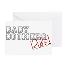 baby boomers rule novelty  Greeting Cards (Package