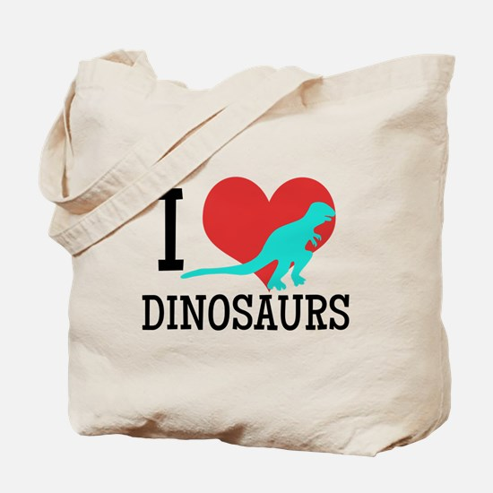 I Love Dinosaurs Tote Bag