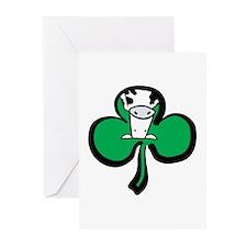Irish Cow Shamrock Greeting Cards (Pk of 10)
