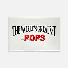 """The World's Greatest Pops"" Rectangle Magnet"