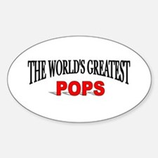 """The World's Greatest Pops"" Oval Decal"