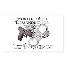 Most Demanding Job Rectangle Decal