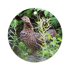 Spruce Grouse Ornament (Round)