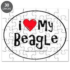 3-I love my beagle large Puzzle