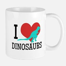 I Love Dinosaurs Mugs