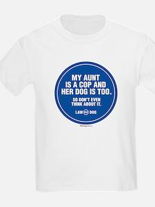 My Aunt Is A Cop Kids T-Shirt