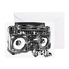 boombox fresh Greeting Card