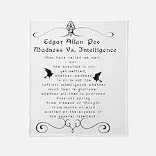 Edgar Allan Poe Madness Vs Throw Blanket