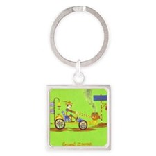 LO RES 201 GROUND ZOOMER Square Keychain