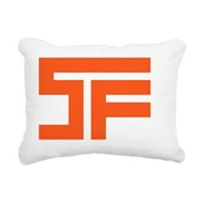 SF_orange02_white outlin Rectangular Canvas Pillow