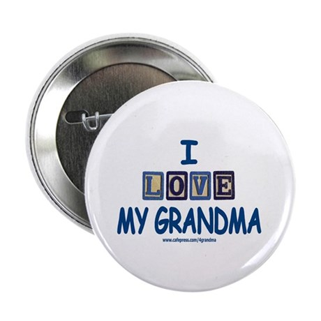 I Love My Grandma Button