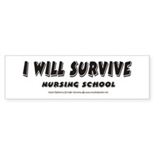 I Will Survive Bumper Car Sticker