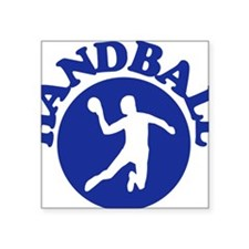"handball_circle_man Square Sticker 3"" x 3"""