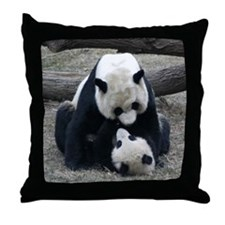 Mei hugs Tai Throw Pillow