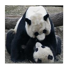 Mei hugs Tai Tile Coaster